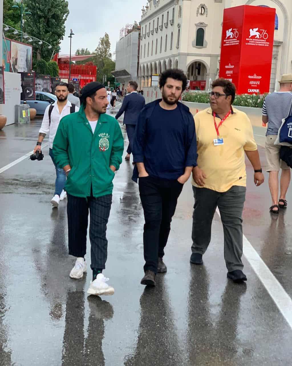 سعید روستایی، فرهاد اصلانی و نوید محمدزاده در خیابانهای ونیز