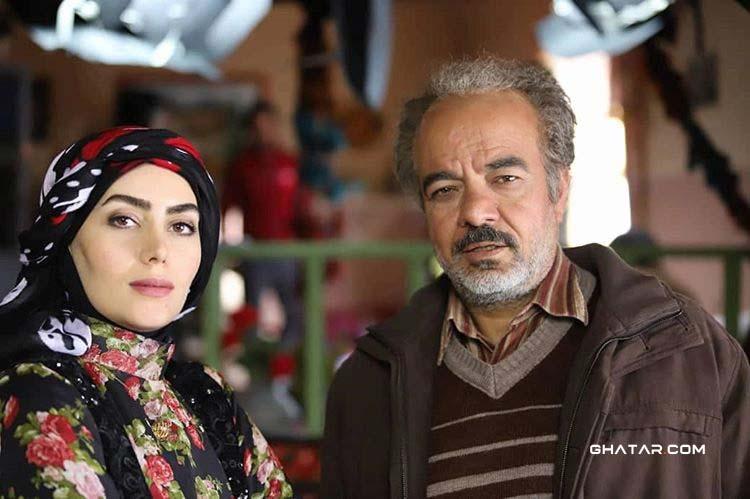 هدیه بازوند، بازیگر نقش روژان در سریال نون خ در کنار سعید آقاخانی