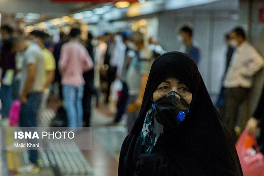 ماسک اجباری در مترو