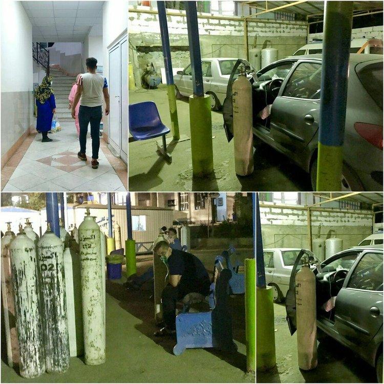 بیماران کرونایی در پارکینگ بیمارستان مسیح دانشوری