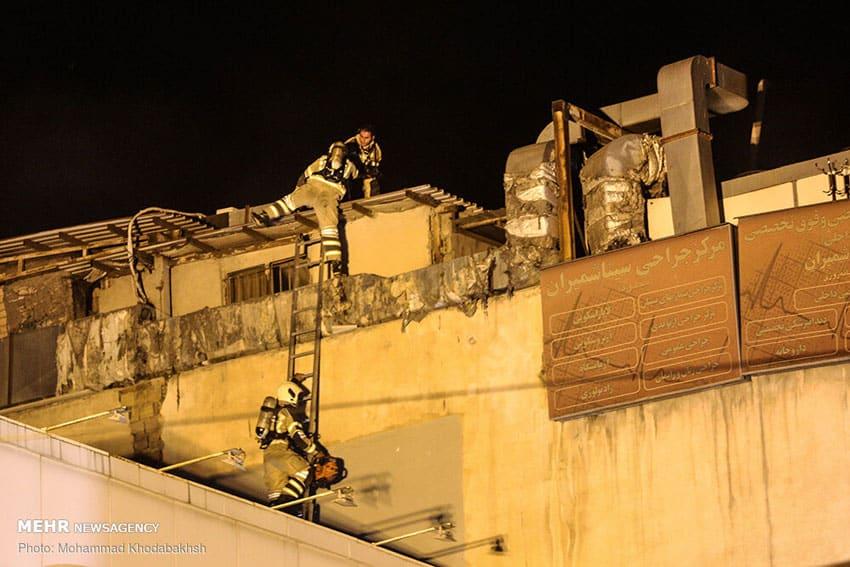 آتش سوزی کلینیک سینا اطهر