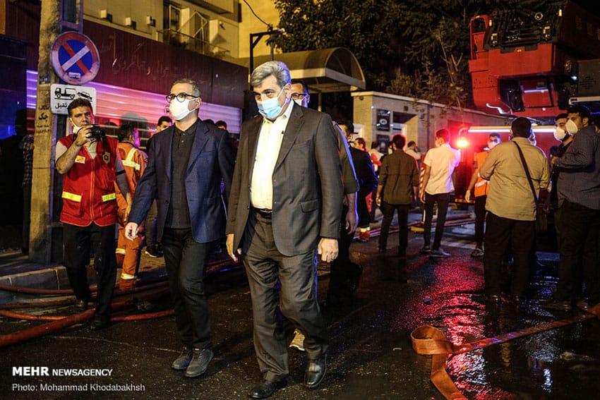 حناچی شهردار تهران در حادثه کلینیک سینا