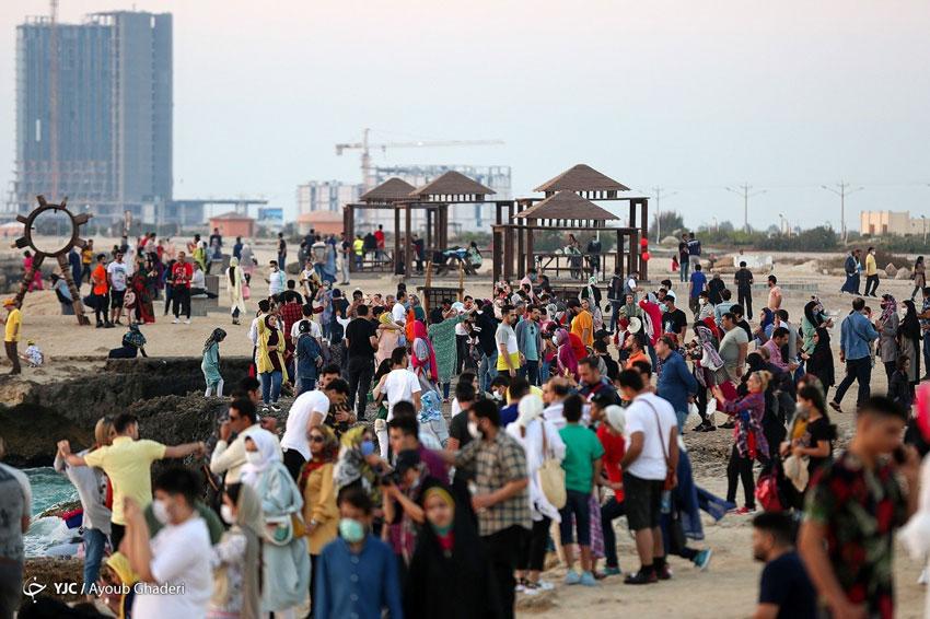 هجوم مسافران به جزیره کیش در روزهای کرونایی