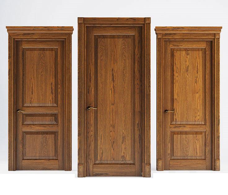 درب چوبی برای ورودی ساختمان