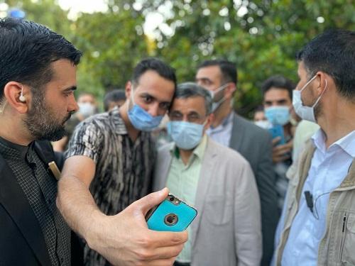 احمدی نژاد در پارک شهر