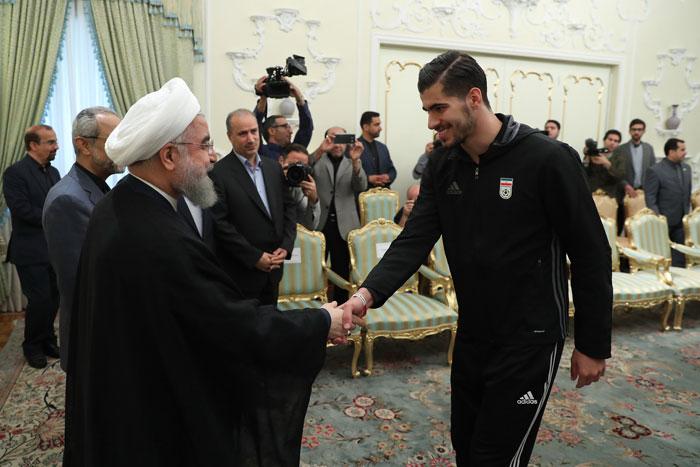 دیدار اعضای تیم ملی فوتبال با رییس جمهور