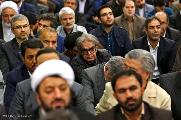 بهنام تشکر علی نصیریان مهران رجبی حمید لولایی دیدار با رهبری