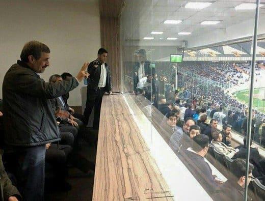 احمدی نژاد تماشای استقلال العین