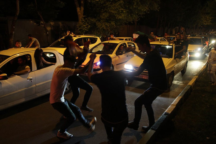 شادی مردم ارومیه والیبال ایران روسیه