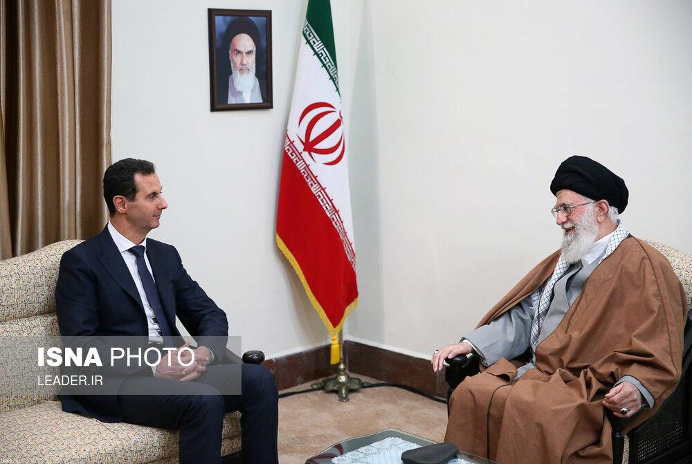 دیدار بشار اسد با رهبری بدون حضور ظریف