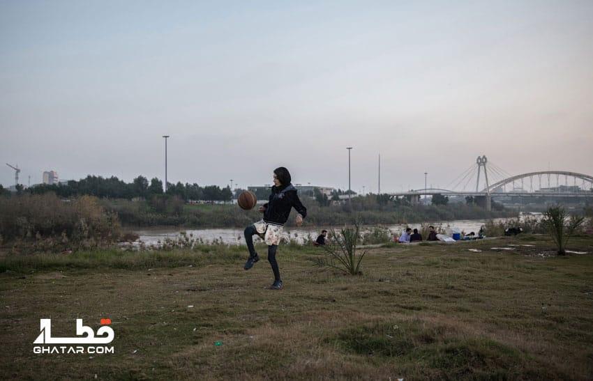 ورود دختر پرسپولیسی به استادیوم آزادی